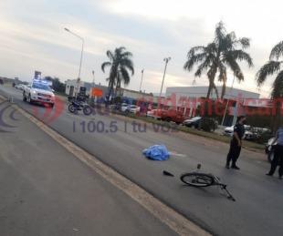 foto: Corrientes: un ciclista murió luego de ser atropellado sobre Ruta 12