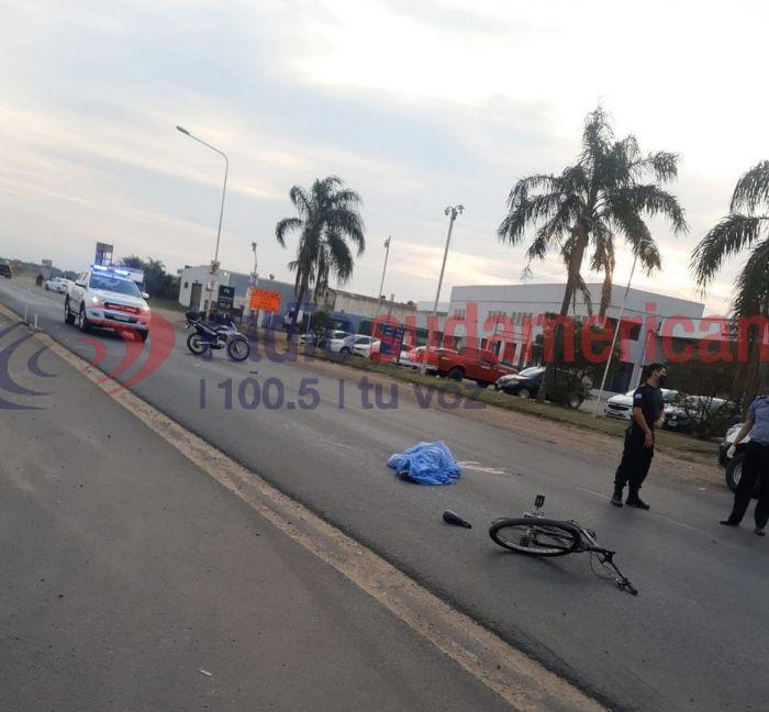 Corrientes: un ciclista murió luego de ser atropellado sobre Ruta 12