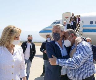 foto: Fernández llegó a La Rioja para reunirse con varios gobernadores