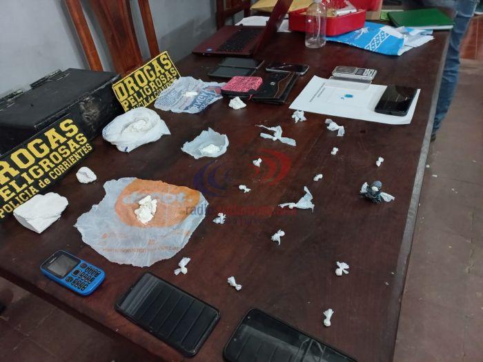Corrientes: Hallaron cocaína y otros elementos en un allanamiento