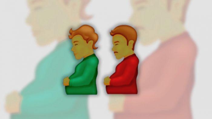 Hombre embarazado y persona embarazada, nuevos emojis inclusivos