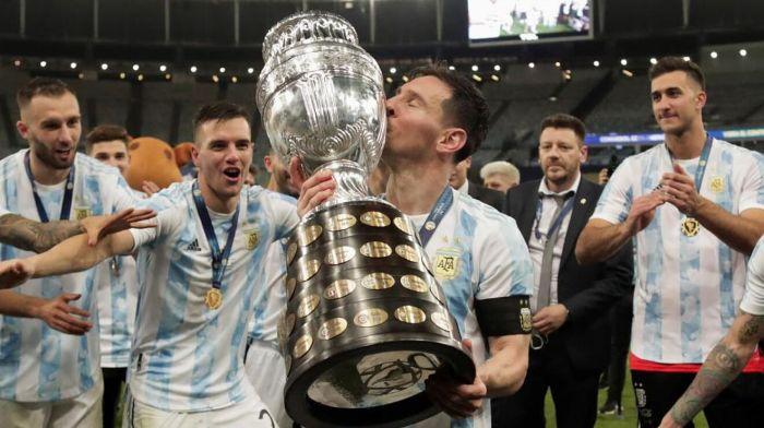 Messi compartió fotos inéditas de Argentina en la Copa América