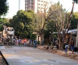 foto: La Provincia concluye la pavimentación de las calles Díaz de Vivar