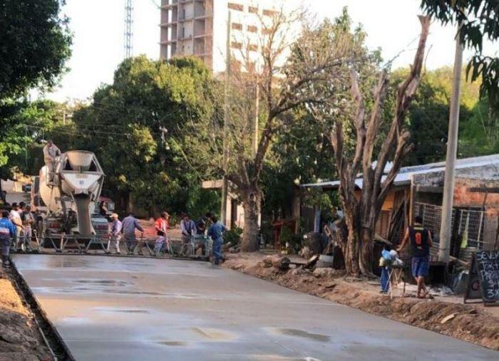 La Provincia concluye la pavimentación de las calles Díaz de Vivar