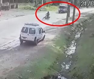foto: El joven atropellado por un camión