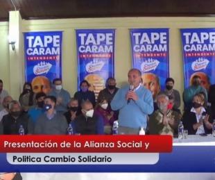 foto: Mercedes: Diego Caram anunció su candidatura a la reelección