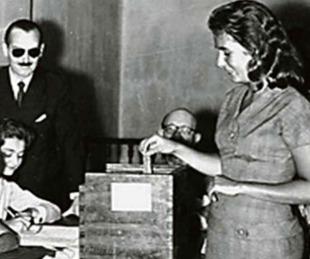foto: A 74 años de la promulgación de Ley que instituyó el voto femenino