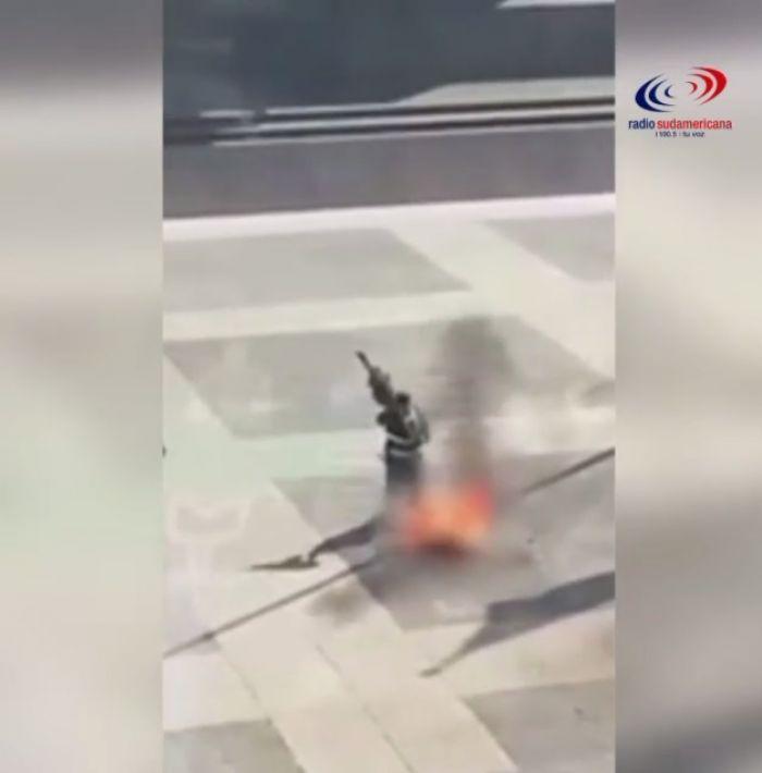 Un hombre se prendió fuego frente a la casa de gobierno de Uruguay