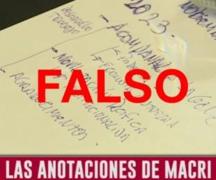 foto: Las anotaciones virales con errores ortográficos no son de Macri