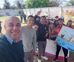 foto: Ascúa anunció aporte para viaje de estudio de alumnos de secundario