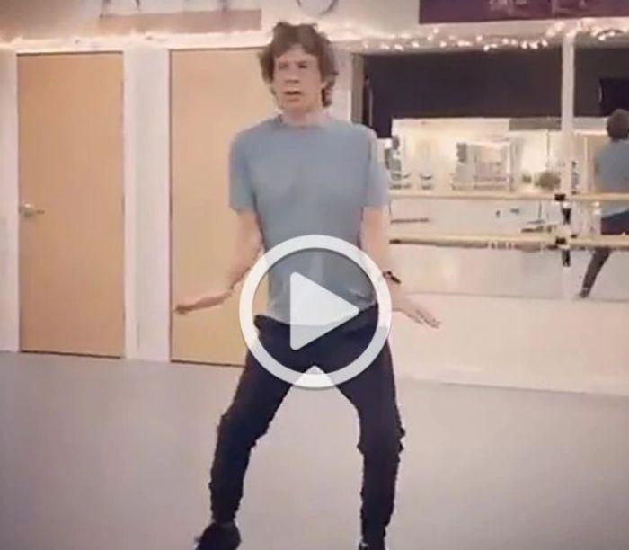 El alocado video de Mick Jagger preparándose para la gira