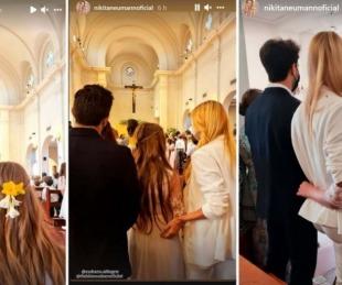 foto: Nicole Neumann y Fabián Cubero compartieron la comunión de su hija con sus nuevas parejas