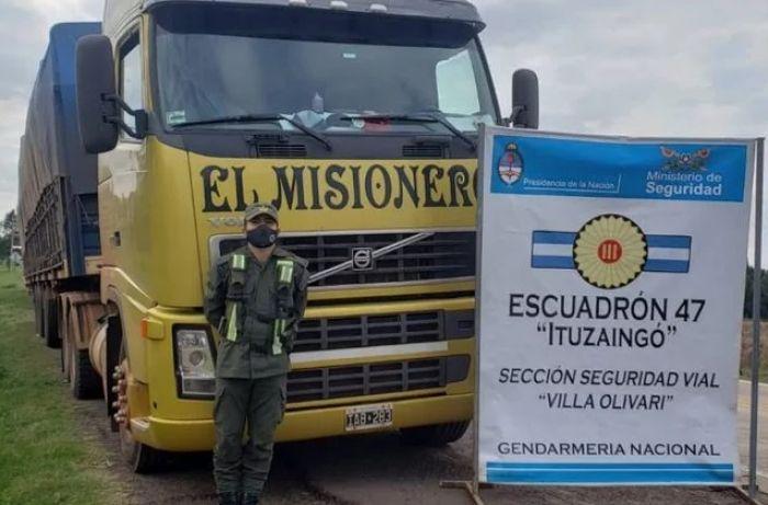 Corrientes: demoraron camiones con 240 toneladas de soja ilegal