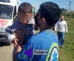 foto: Un niño de un año se escapó de su casa en plena madrugada