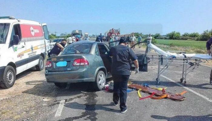 Ruta 12: correntina murió tras choque entre un auto y un camión