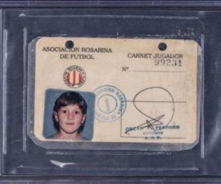 foto: Subastan una reliquia de los primeros años de Lionel Messi como futbolista