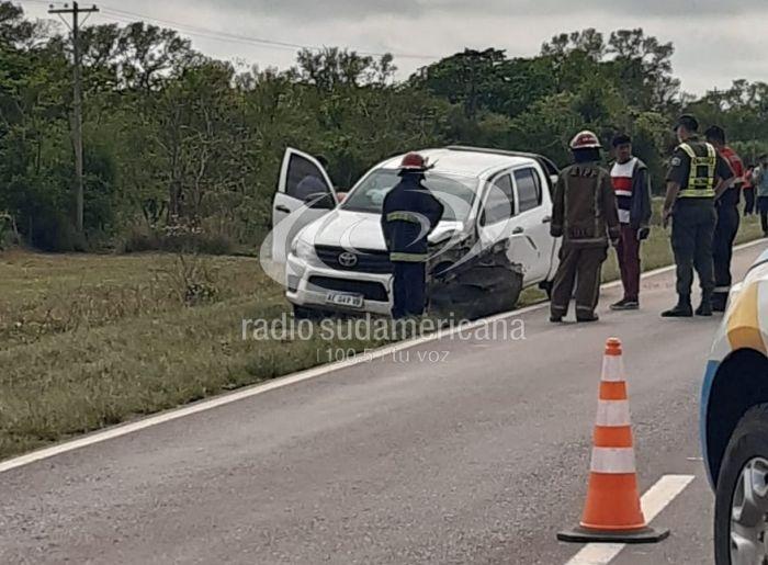 Ruta 12: tremendo choque entre auto y camioneta dejó un muerto