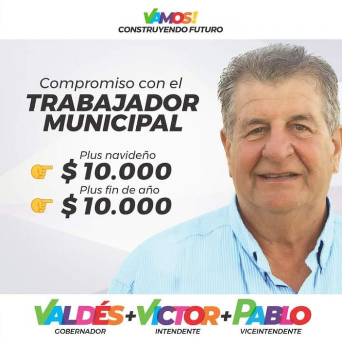 Mercedes: Prometen plus de 10 mil pesos para municipales