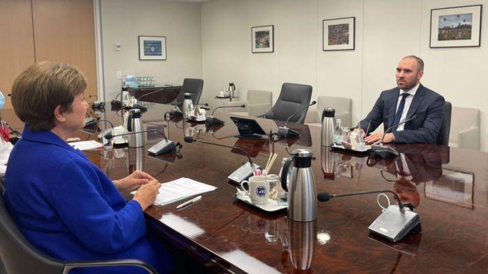 Martín Guzmán se reunió con Kristalina Georgieva del FMI