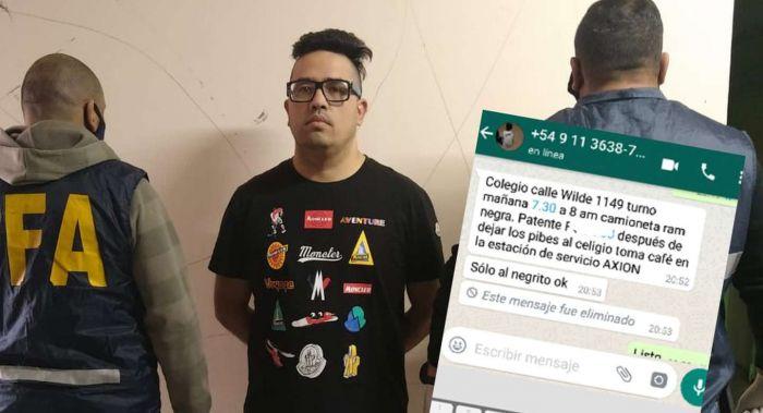 Los chats donde Guille Cantero ordenó acribillar a un testigo frente al colegio de sus hijos
