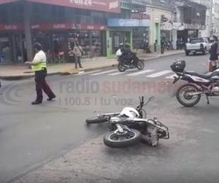 foto: Caos en pleno centro de Corrientes por un siniestro vial