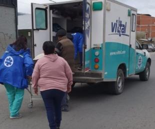 foto: A una ambulancia se le abrieron las puertas y perdió a un paciente