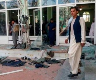 foto: Así quedó la mezquita que sufrió un atentado en Afganistán