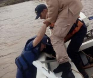foto: Rescataron a navegante que estaba a la deriva en el Río Uruguay