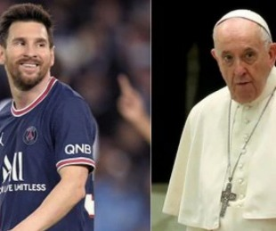 foto: Lionel Messi le envió un regalo especial al Papa Francisco
