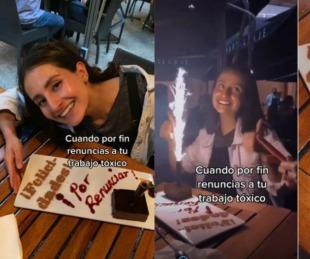 foto: Una joven renunció a su trabajo tóxico y el festejo se hizo viral