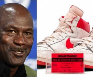 foto: Subastaron una zapatillas de Michael Jordan: las más caras de la historia